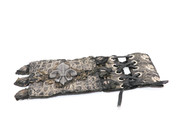 Fluer-de-Lys Vintage Black Braided Leather Wristband