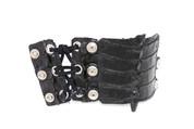 Alligators Way Black/Red Rockstar Braided Leather Wristband