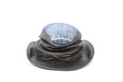 LA-Riga Denim/Leather Wrinkled-Crown