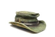 LA-Riga Crumpled Vintage Green Top-Hat