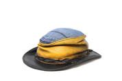 LA-Riga Crumpled Yellow/Denim Outdoor Hat
