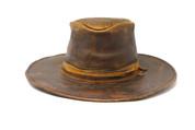 LA-Riga Vintage Brown Flat-Brim Cowboy Hat