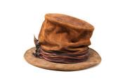 LA-Riga Crumpled Flat Brim Top-Hat