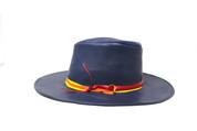 LA-Riga Blue Flat Brim Cowboy Hat