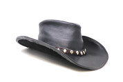 LA-Riga Studded Black Cowboy Hat