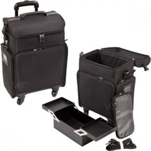 Soft-Sided Rolling Beauty Case - Black