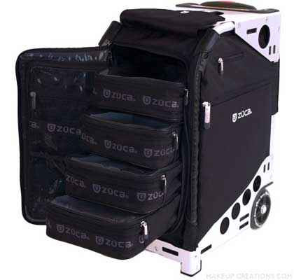 ZUCA Pro Makeup Artist Case Black with Silver Frame