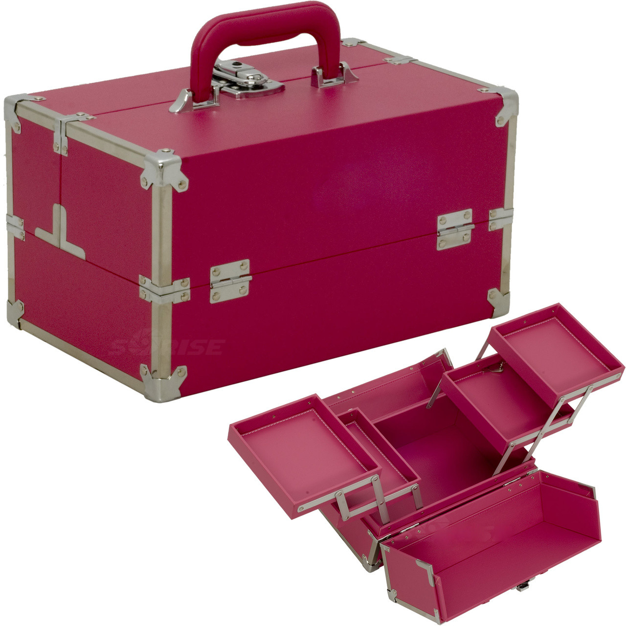 ... Japonesque Medium Pink Makeup Train Case. Image 1 734ef2efde2dd