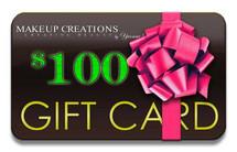 MakeupCreations $100 Gift Card