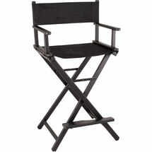 Small Aluminum Director Makeup Artist Chair - Black or Rose Gold
