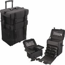 2-In-1 Soft-Sided Pro Rolling Makeup Case with Drawers