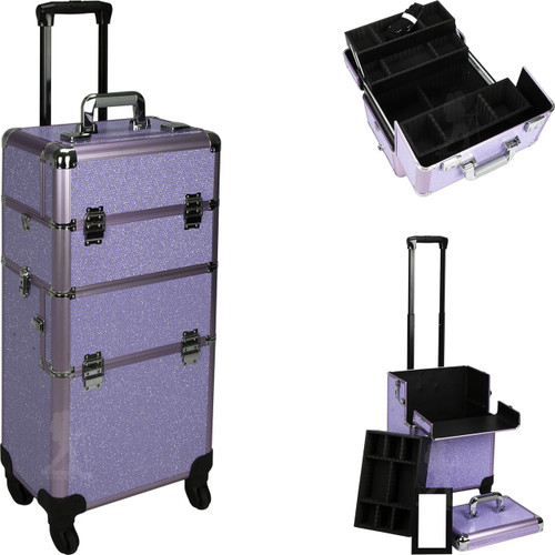 Purple Professional Portable Makeup Case.