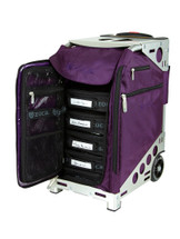 ZUCA Pro Artist Rolling Case-Royal Purple with Silver Frame