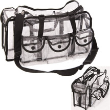 Large Clear Makeup Bag with Shoulder Strap