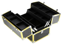 Mid-Size Beauty Train Case with 4 Extendable Trays - 3 Stylish Gold Color Options