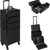 7-in-1 Professional Rolling Beauty Case – Glitter Series – 4 Color Options - springsale