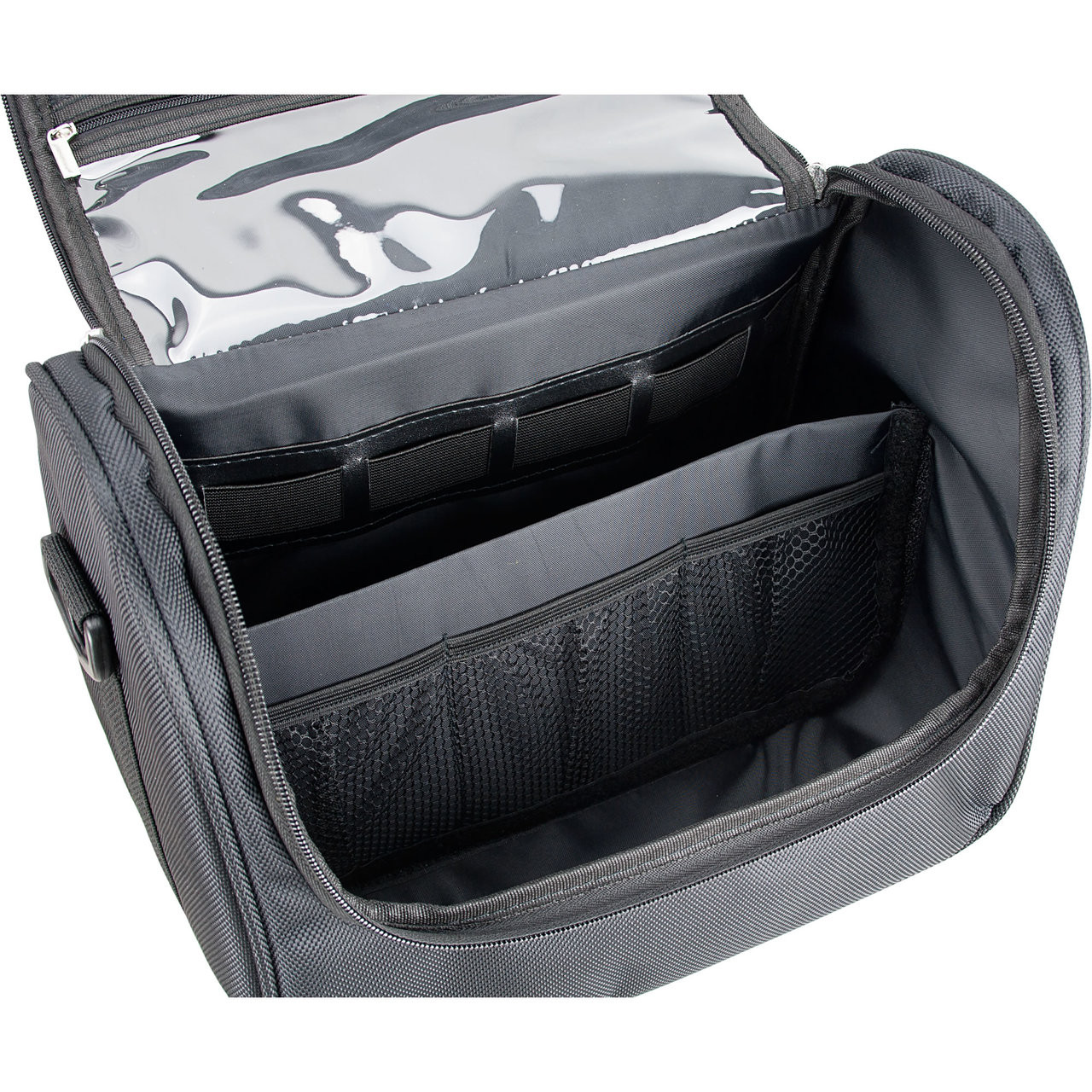 Black Soft Travel Makeup Case  1200dcf79e488