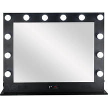 LED Lighted Makeup Station - Black or White Metal