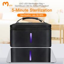 Omats UV Sanitizer Bag with GermGuard 360 - Black or Gray