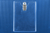 Vertical Clear Badge Holder w/ Clip 100 pack