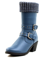 Luckers Women's Sweater Cuff Mid-Calf Boots