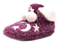 Luckers Women's Moon And Stars Slipper Booties
