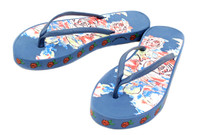 Luckers Women's Modern Roses Flip-Flops Sandals