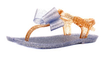 Luckers Girl's Princess Jelly Bows T-Strap Sandals