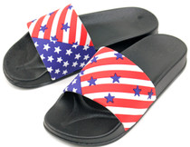 Luckers Women's  American Flag Slide Sandals