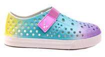 Luckers Kids Water Slip-On Sneaker, Color Glitter Pastel Tie-Dye