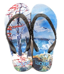 Luckers Women's Seashore Flip Flops