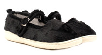 Luckers Women's Fuzzy Faux Fur Mary Jane Slipper Shoes