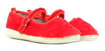 Luckers Girls' Fuzzy Faux Fur Mary Jane Slipper Shoes