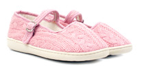 Luckers Girls' Knit Mary Jane Slipper Shoes