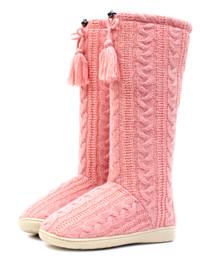 Luckers Girls' Knit Tall Slipper Boot