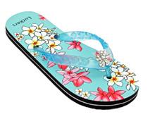 Luckers Women's Hawaiian Flowers Flip-Flops