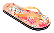 Luckers Girls Hawaiian Flowers Flip-Flops