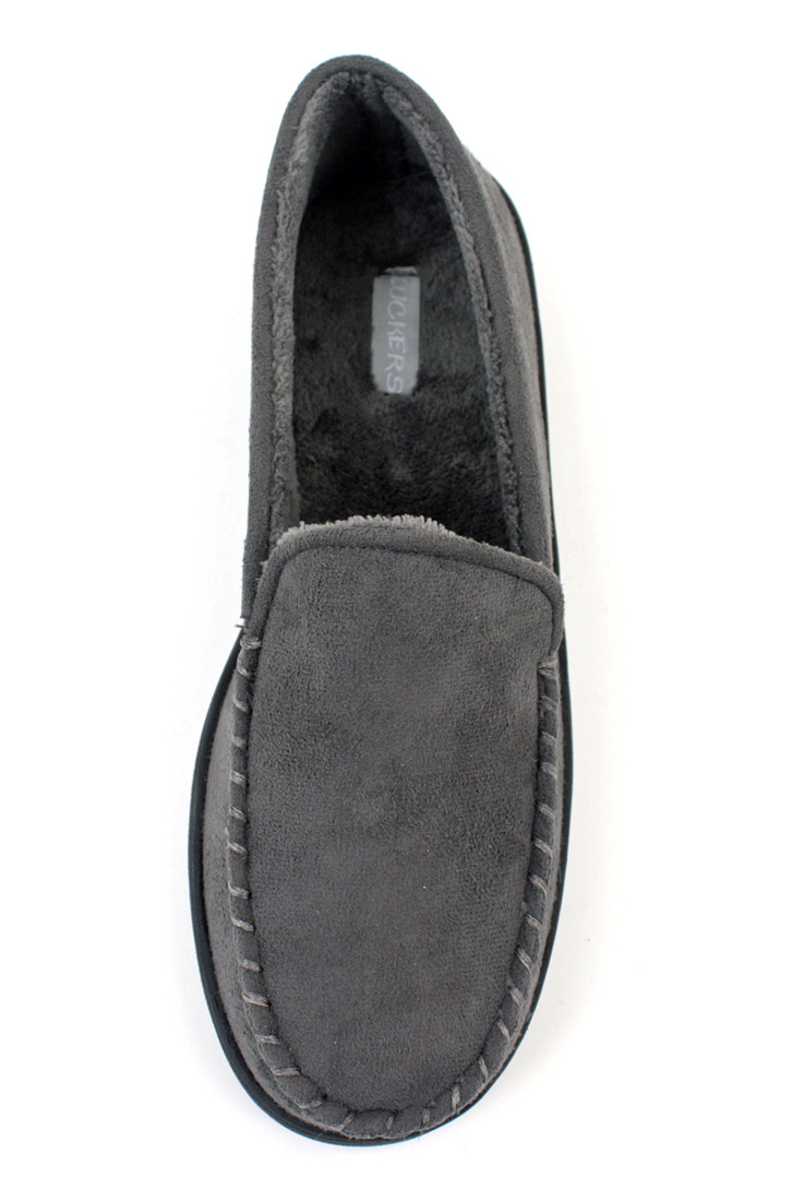 22e0f2ee3bc Suede Fleece Lined Loafers - Luckers Inc.
