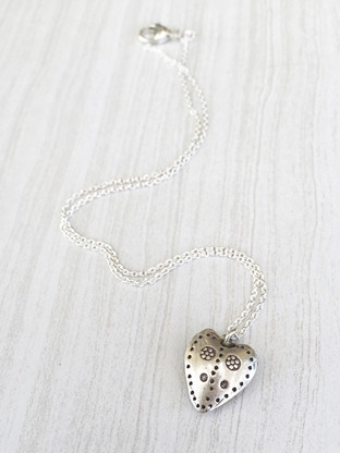Love Story necklace on white
