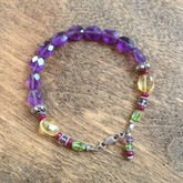 Amethyst and Ruby bracelet