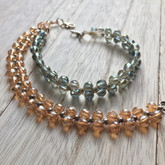 Sage Crystal Braided Bracelet