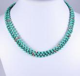 Glass 5 Wrap Necklace & Bracelet - turquoise