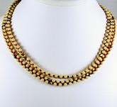 Glass 5 Wrap Necklace & Bracelet - ivory