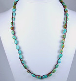 Turquoise Nugget Wrap Necklace & Bracelet
