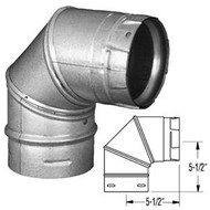 3PVP-E90 PELLET VENT PRO 90 DEGREE ELBOW IN GALVANIZED OR PAINTED BLACK
