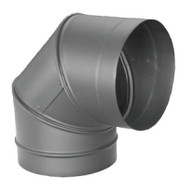 "1690 6"" Dura-black 24-ga Welded Black Stovepipe, 90 Degree Elbow"