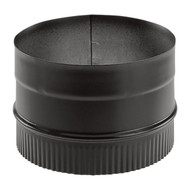 "Duravent DuraBlack 24-ga Welded Black 6"" Stovepipe Adaptor 6DBK-AD"