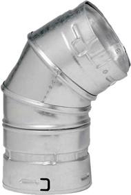 "3GVL45 M & G DuraVent Type B Gas Pipe 45/60 Degree Elbow 3"" Diameter"