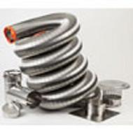 "17144 Homesaver Ultra Pro 316Ti Stainless Steel Chimney Relining Tee Kit 3"" Diameter X 25' Length"