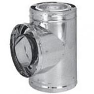 """6DP-T 6"""" Dura-Vent DuraPlus Tee With Cap, Galvanized Steel"""